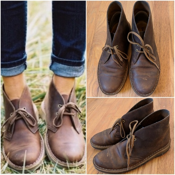 f15a3e5c759f8 Clarks Shoes | Womens Desert Boots In Beeswax Us 7 | Poshmark